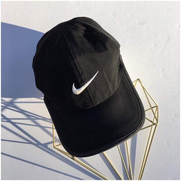 e009b559ffe7d ... low price nike black featherlight dri fit sports cap e4267 a0c35